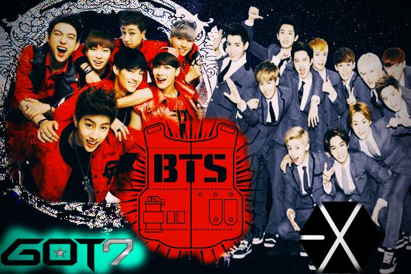 Fanfic / Fanfiction Grupos diferentes (imagine EXO,BTS,GOT7 )