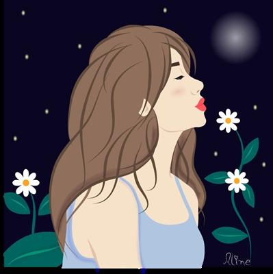 Fanfic / Fanfiction A Menina e o Passarinho Azul
