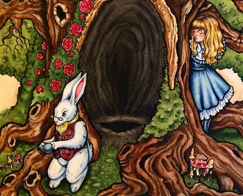 Fanfic / Fanfiction Alice e o coelho filosofal