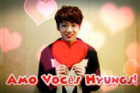 Fanfic / Fanfiction Amo Vocês Hyungs!