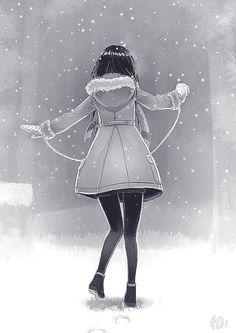 Fanfic / Fanfiction Andando sob a neve