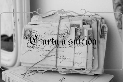 Fanfic / Fanfiction Carta à suicida