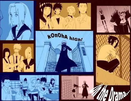 Fanfic / Fanfiction Konoha High(Interativa Naruto)
