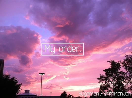 Fanfic / Fanfiction My order - Sugamon -