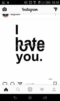 Fanfic / Fanfiction I hate you, I love you.