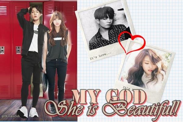 Fanfic / Fanfiction My God She Is Beautiful - OneShot Jeon Jungkook