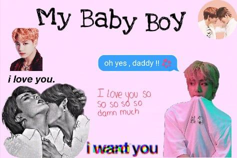 Fanfic / Fanfiction My Baby Boy- Taekook-Vkook (Ft.Yoonmin e Namjin)ABO