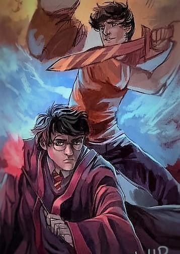 Fanfic / Fanfiction Hogwarts lendo Percy Jackson