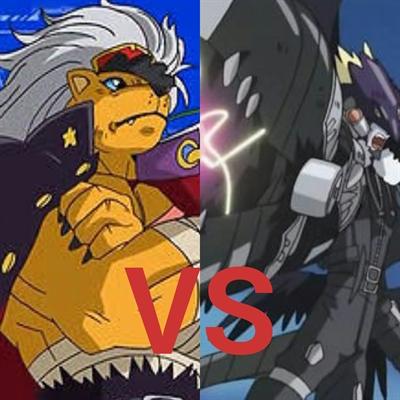 Fanfic / Fanfiction Digimon Overdrive - Capítulo 31 - BanchoLeomon Contra AereoBeelzemon.