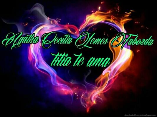 Fanfic / Fanfiction Meu amor minha vida - Capítulo 10 - Agatha Cecília Lemes Taborda ta vindo ai