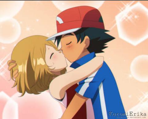 Fanfic / Fanfiction Pokémon:Jornada em confusão com as gêmeas - Capítulo 11 - O primeiro beijo.💏
