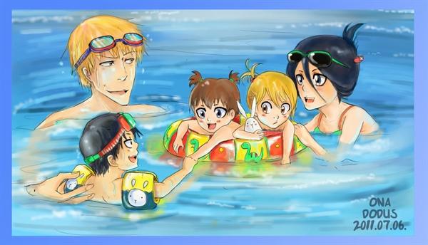 Fanfic / Fanfiction Uma familia de shinigami - Capítulo 7 - Um dia na praia