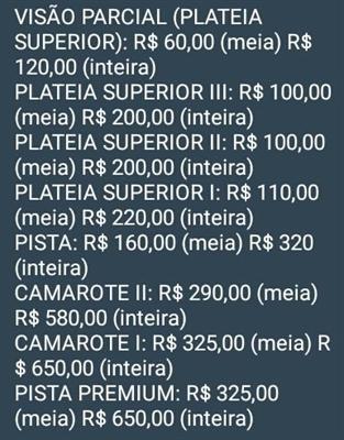 Fanfic / Fanfiction BTS NO BRASIL 2017 (Wings Tour) - Capítulo 4 - Preço Dos Ingressos