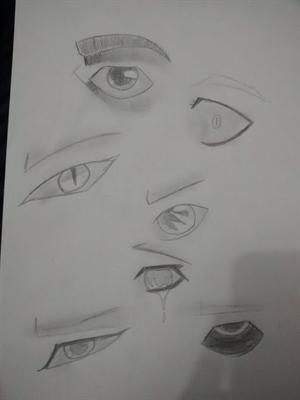 Fanfic / Fanfiction Desenhos ;p - Capítulo 1 - Aprendendo a fazer olhos