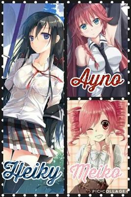 Fanfic / Fanfiction Diabolik Lovers Smeared By Blood - Capítulo 1 - As 3 irmãs Komori