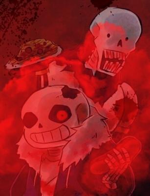Fanfic / Fanfiction Horrortale a Fome - Capítulo 3 - Cabechorro Quente e os irmãos esqueleto