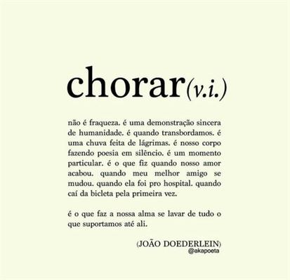 Fanfic / Fanfiction Palavras que me representam - Capítulo 3 - Chorei