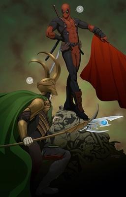 Fanfic / Fanfiction Arlequina e Deadpool: Um Amor doentio - Capítulo 8 - Deadpool vs Loki