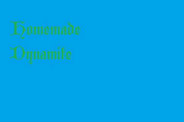 Fanfic / Fanfiction Hopeless Fountain Kingdom - Capítulo 3 - Homemade Dynamite