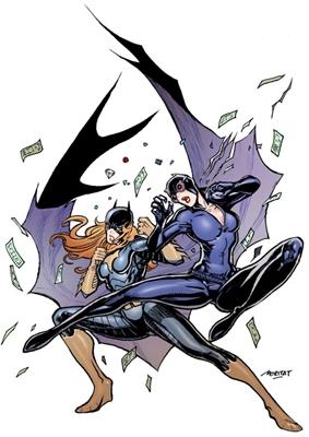 Fanfic / Fanfiction Mulher Gato vs Batgirl - Capítulo 2 - A Gata vs A Morcega ((1-round))