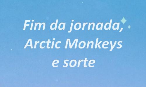 Fanfic / Fanfiction Useless Diary - Capítulo 8 - Fim da jornada, Arctic Monkeys e sorte.