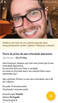 Fanfic / Fanfiction Diario da prima de uma retardada depressiva - Capítulo 3 - Querido me respeite