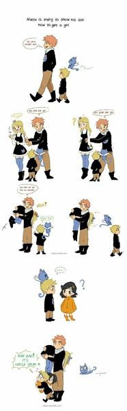 Fanfic / Fanfiction Comics de Fairy Tail - Capítulo 105 - Daddy Natsu education