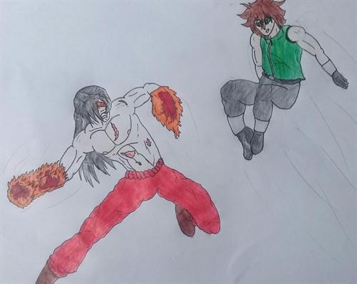 "Fanfic / Fanfiction Metal Burst X Zero - Capítulo 24 - Sun Flame ""A Chama do Sol!"""