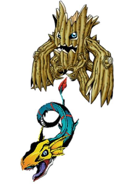 Fanfic / Fanfiction D.N.A Advance: Nova Ordem do Século - Capítulo 3 - Seadramon e Woodmon