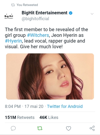 Fanfic / Fanfiction Witchers - KPOP INTERATIVA - Capítulo 2 - Meet Jeon Hyerin