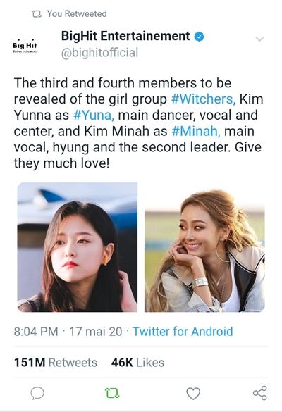 Fanfic / Fanfiction Witchers - KPOP INTERATIVA - Capítulo 4 - Meet Kim Minah and Kim Yunna