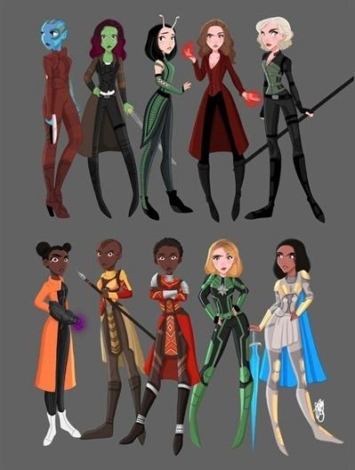 Fanfic / Fanfiction Vingadores! - Capítulo 39 - Encontro de meninas ( parte 1 )