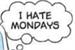 Fanfic / Fanfiction Eu odeio segundas