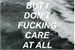 Fanfic / Fanfiction I Don't Fucking Care - Imagine Suga